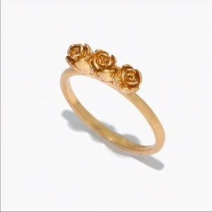 Madewell flower bud ring size 8